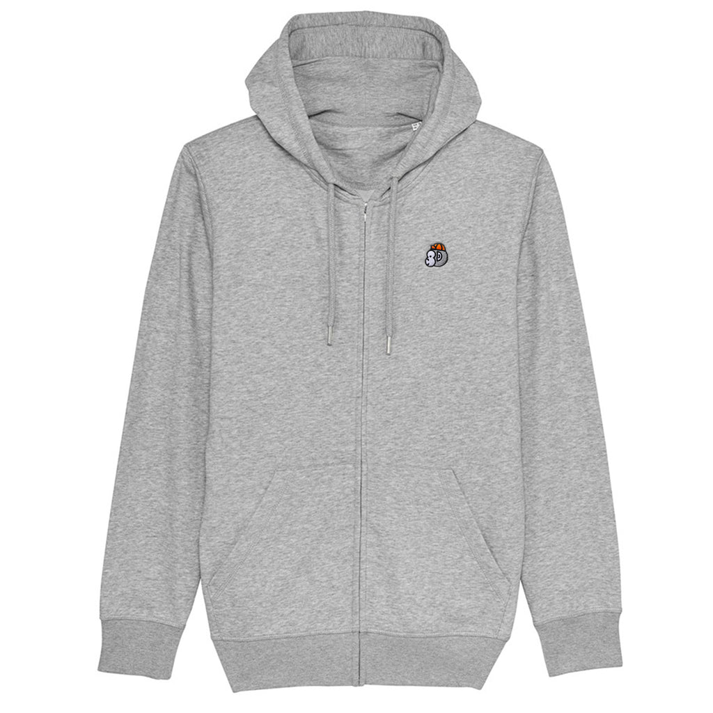 Chimpeur Unisex Organic Cotton Hoodie (Heather Grey)