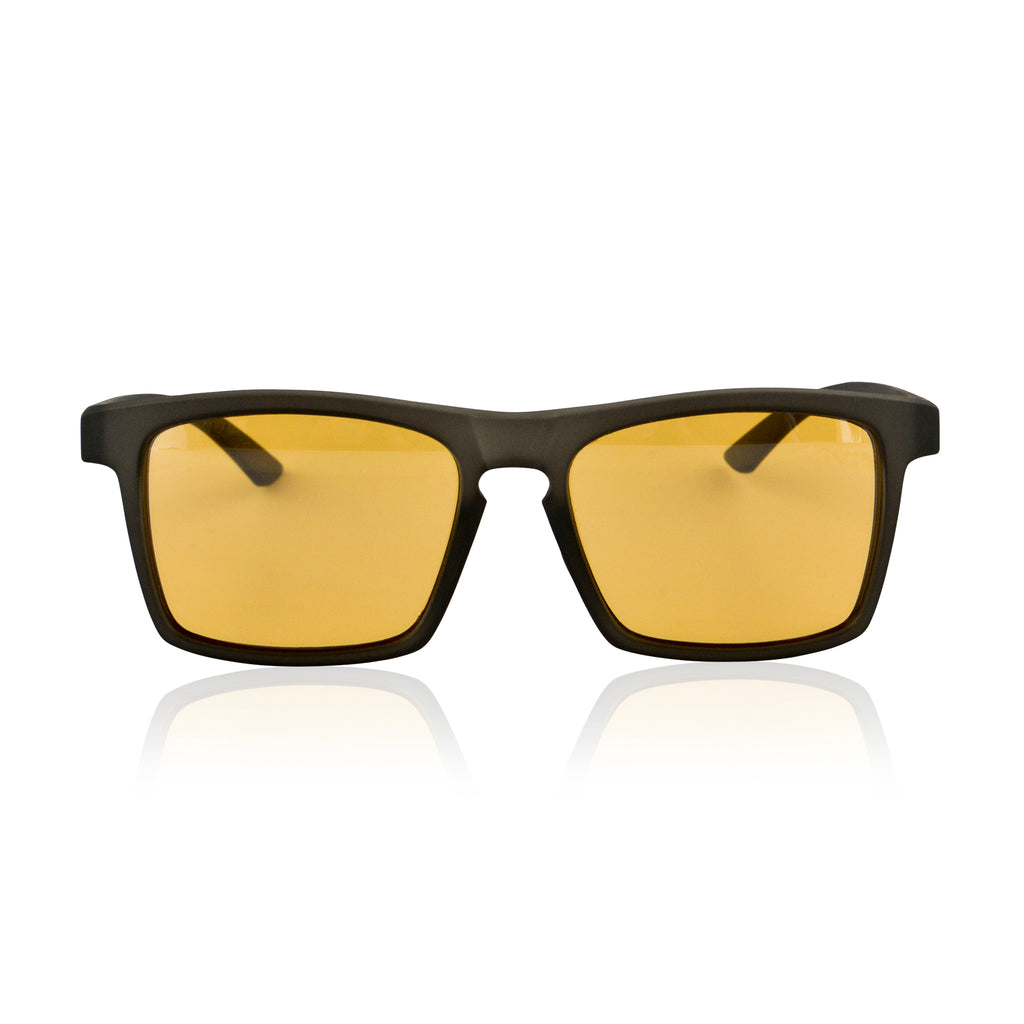 A.P.E. Optics Claro Sunglasses (Matte Crystal Charcoal w/ Bronze + Silver Mirror Lens)