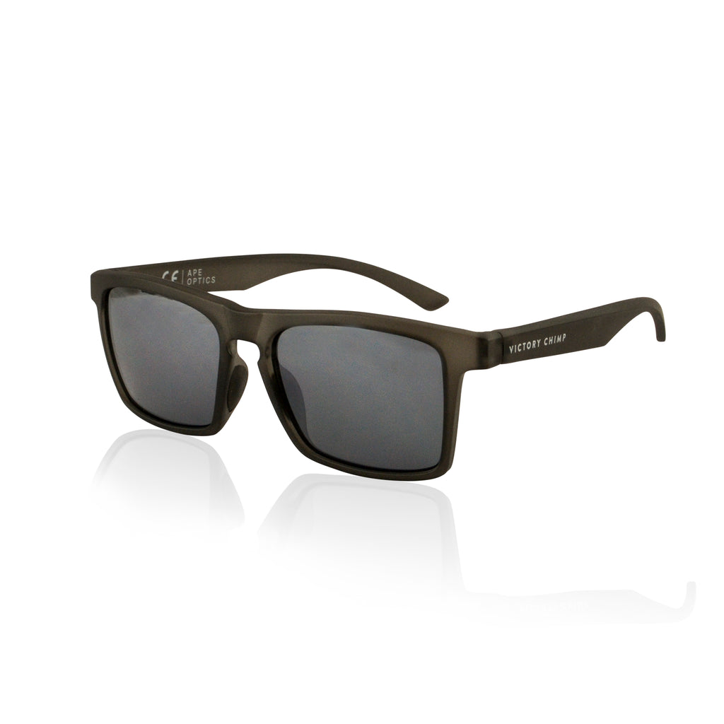 A.P.E. Optics Claro Sunglasses (Matte Crystal Charcoal w/ Smoke + Silver Mirror Lens)