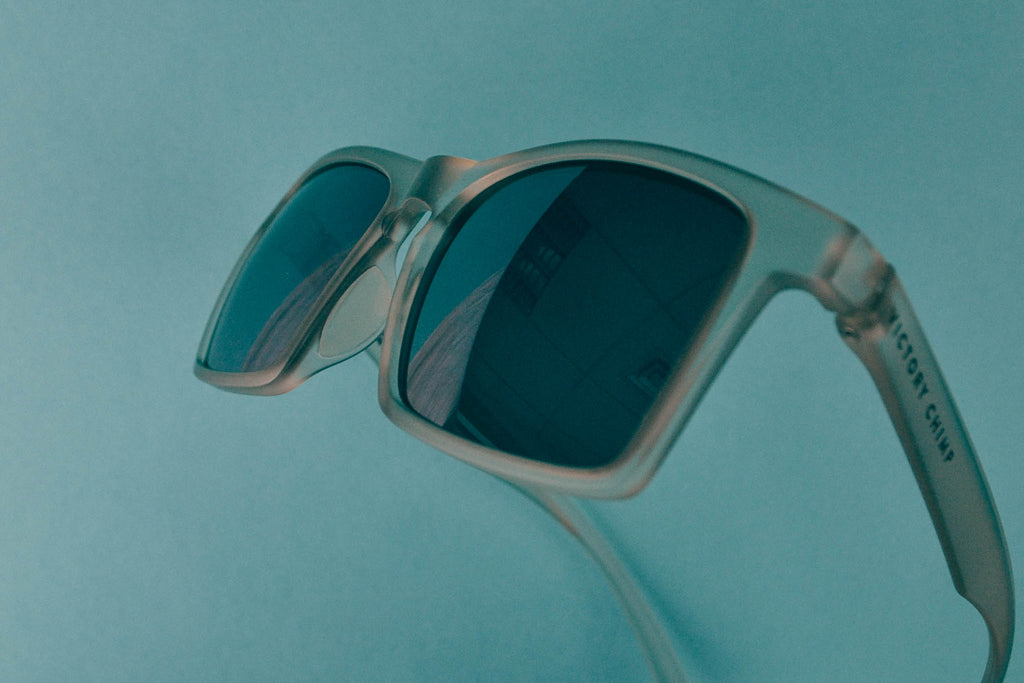 A.P.E. Optics Claro Sunglasses (Matte Snow w/ Smoke + Silver Mirror Lens)