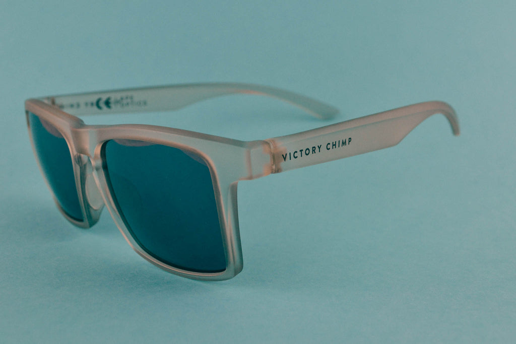 A.P.E. Optics Claro Sunglasses (Matte Snow w/ Bronze + Silver Mirror Lens)