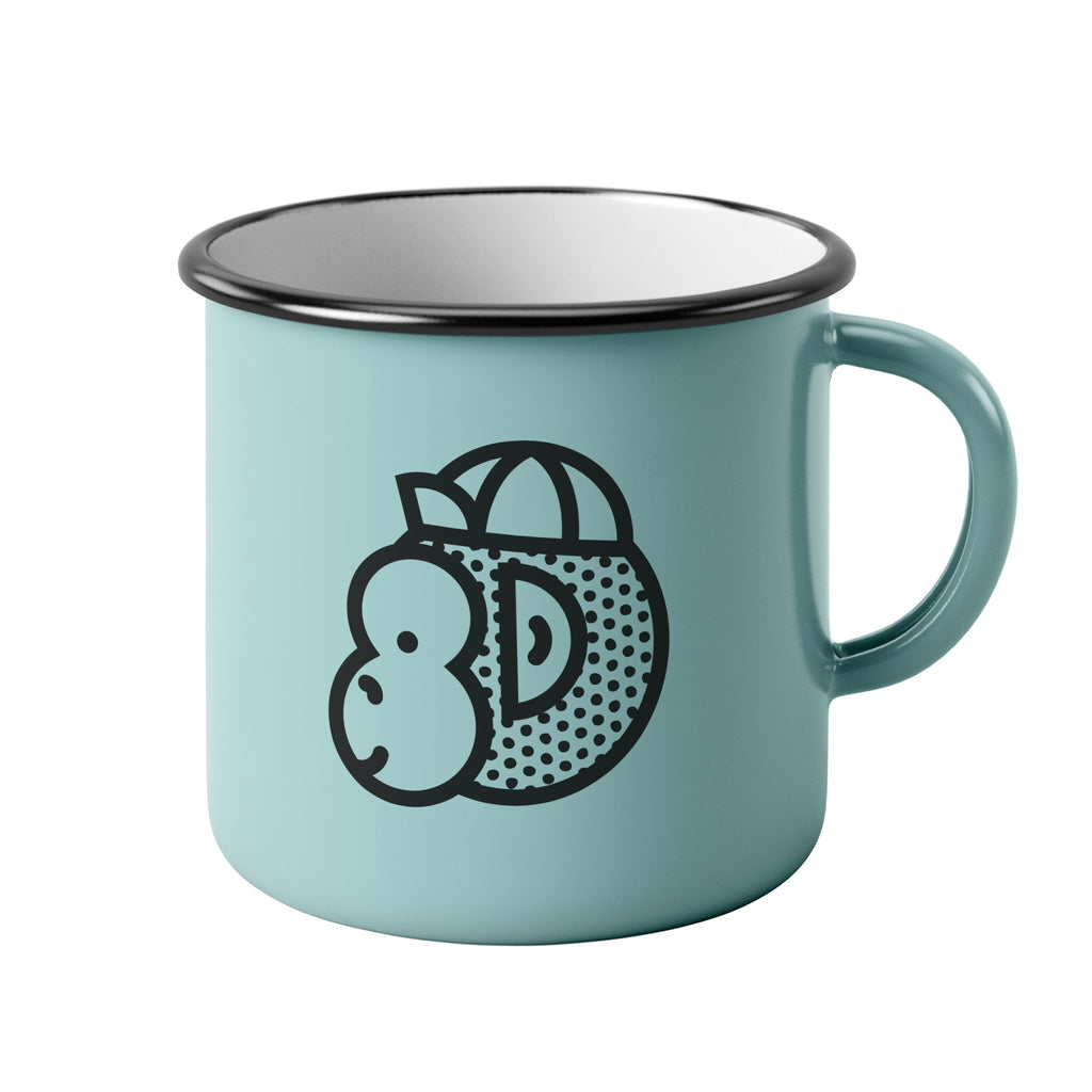 Victory Chimp Enamel Mug (Light Blue) - Victory Chimp