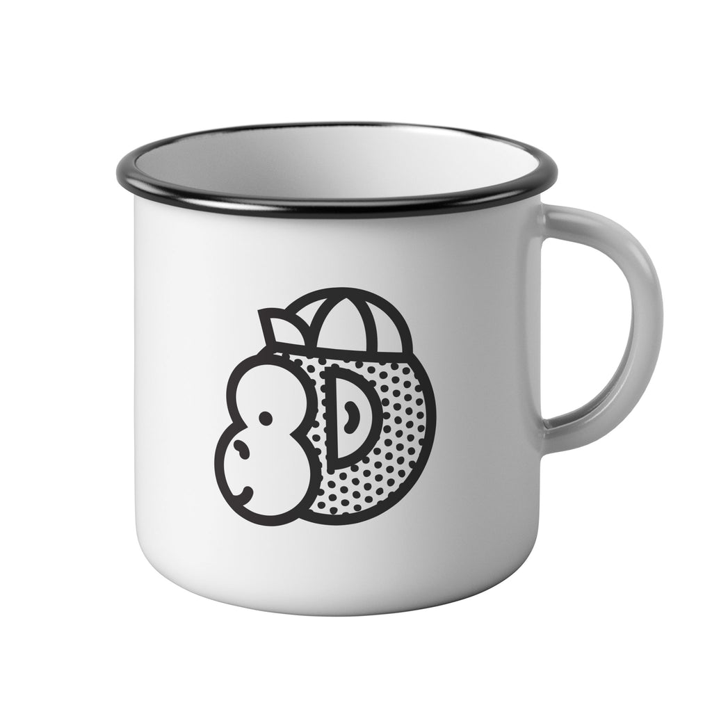 Victory Chimp Enamel Mug (White) - Victory Chimp