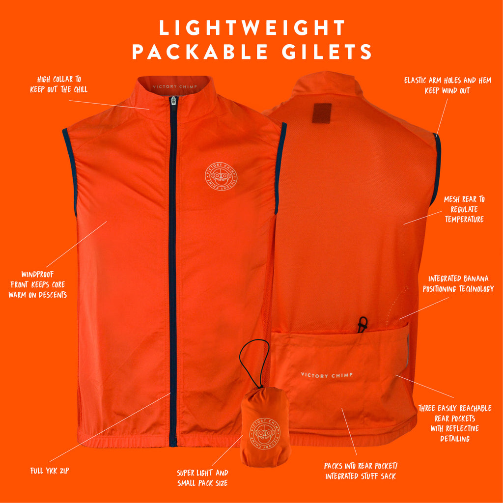 Women's Signature Packable Gilet (Orange)