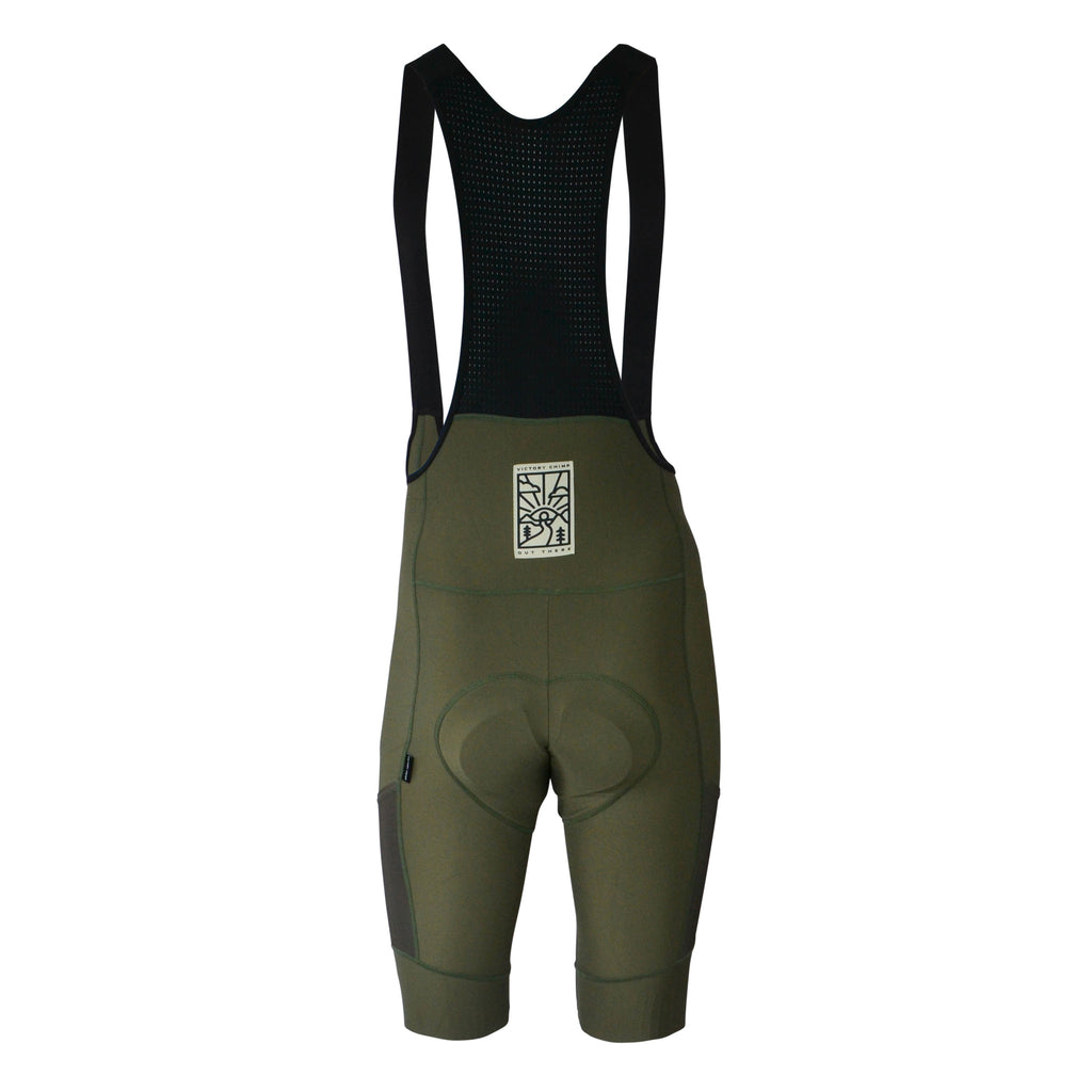 Out There Men's Cargo Bib Shorts (Olive)