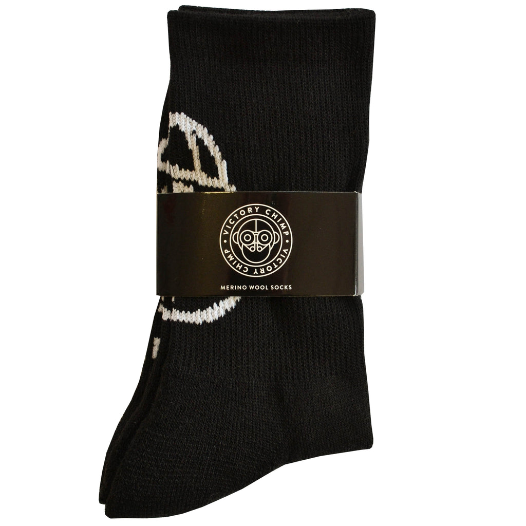 Chimpeur Merino Wool Winter Socks (Black)