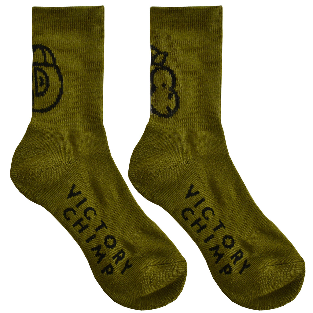 Chimpeur Merino Wool Winter Socks (Olive Green)