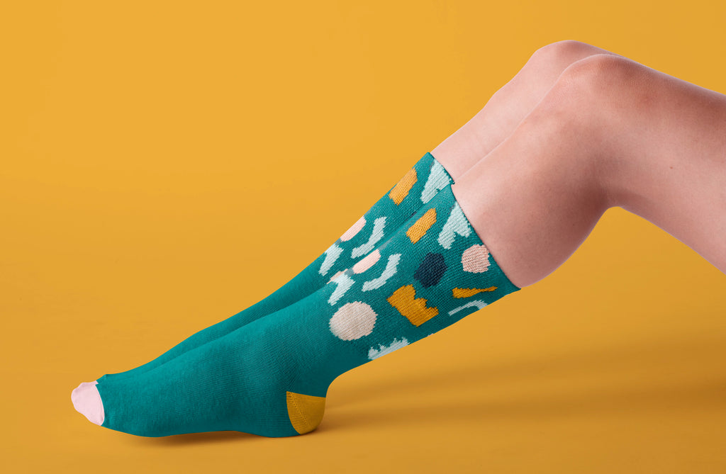Papercuts High Top Socks