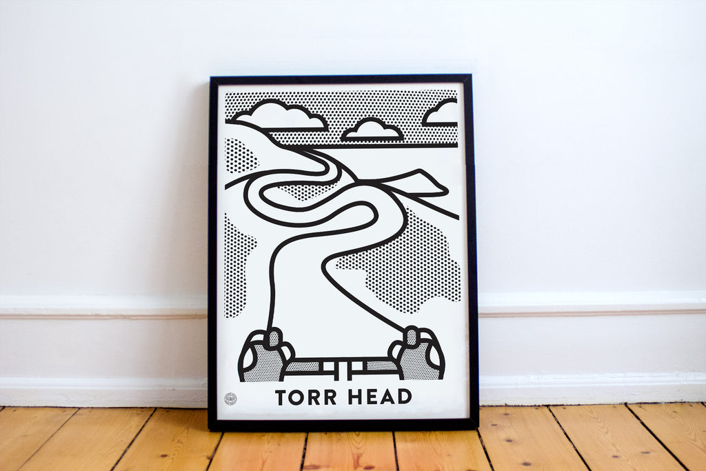 Up! Up! Up! Torr Head (Mono) Cycling Art Print - Victory Chimp