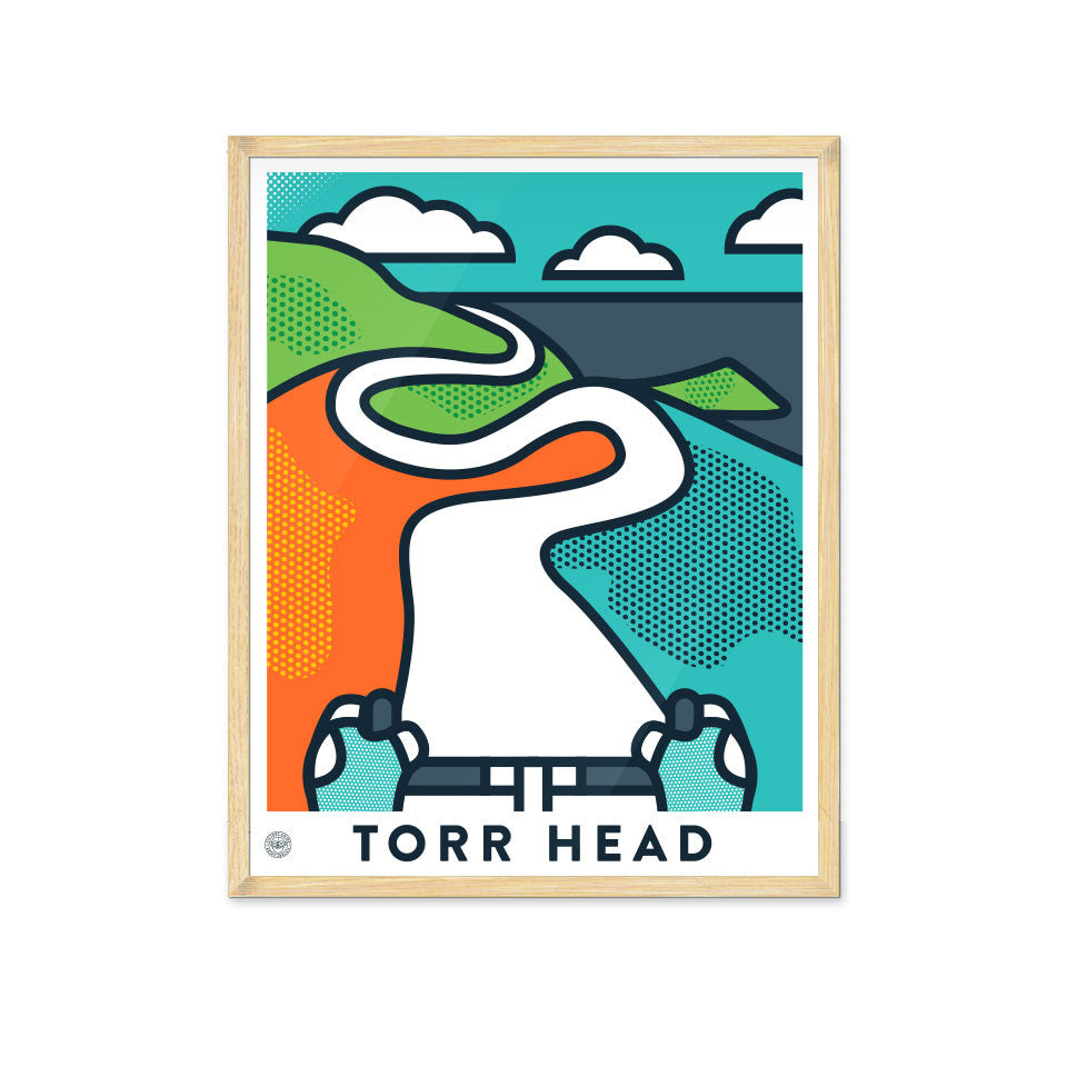 Up! Up! Up! Torr Head Cycling Print - Victory Chimp