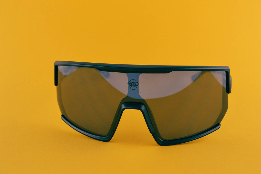 A.P.E. Optics Vega Sunglasses (Matte Black w/ Smoke + Silver Mirror Lens)