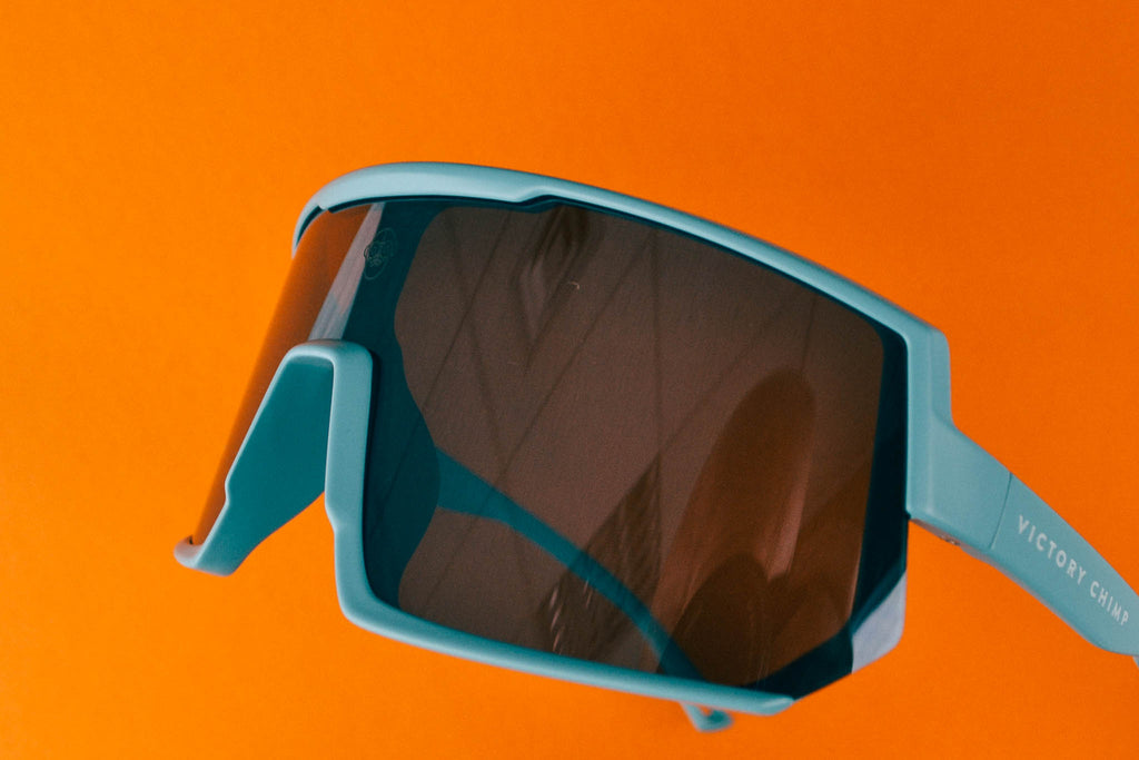 A.P.E. Optics Vega Sunglasses (Matte Teal w/ Smoke + Silver Mirror Lens)