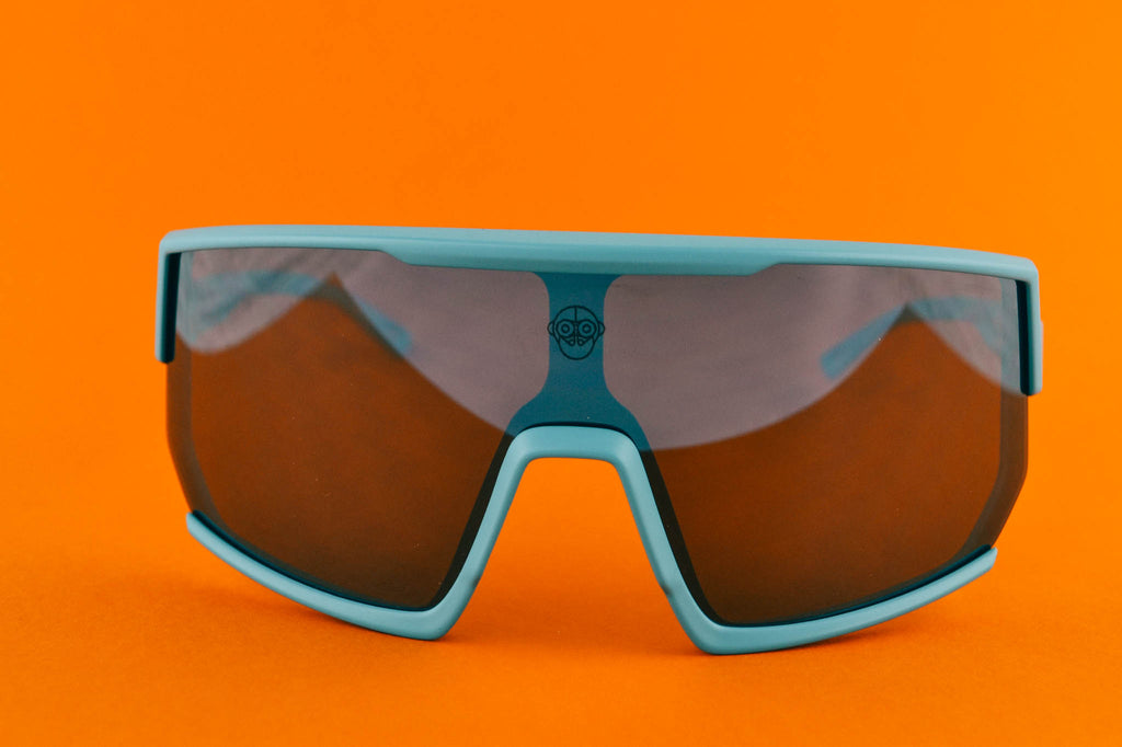 A.P.E. Optics Vega Sunglasses (Matte Teal w/ Smoke Lens)
