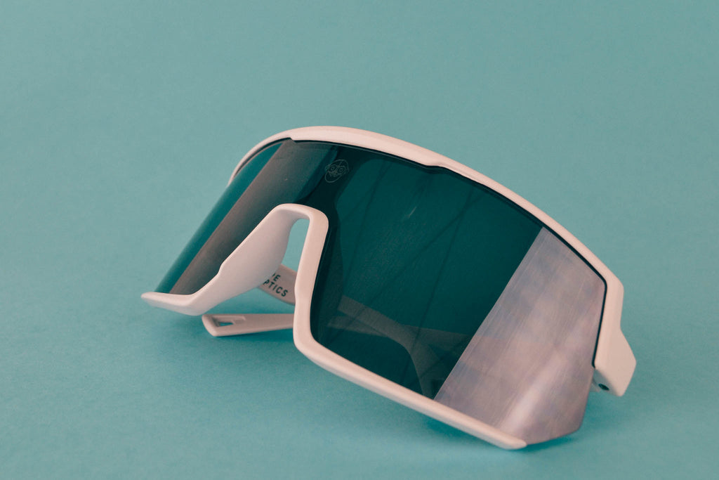 A.P.E. Optics Vega Sunglasses (Matte White w/ Smoke + Silver Mirror Lens)