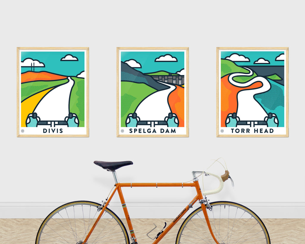 Up! Up! Up! Set of 3 Cycling Prints - Victory Chimp
