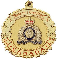 RCMP Pewter Christmas Ornaments