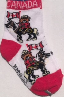 Socks RCMP Musical Ride Adult or Infant sizes / Chaussettes GRC Ride Musical Adultes ou pour bébés