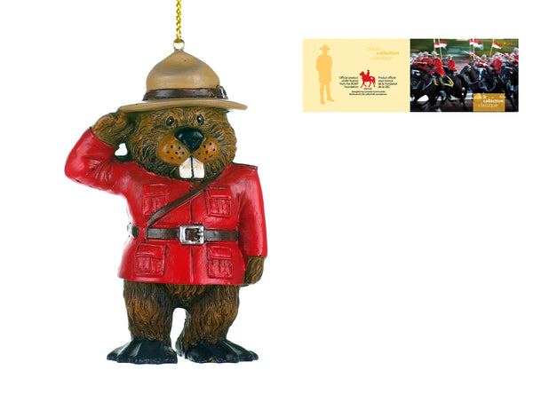 "4"" RCMP SALUTING BEAVER DECORATION / DÉCORATION CASTOR DE LA GRC, 10 CM (4 PO) B1914"