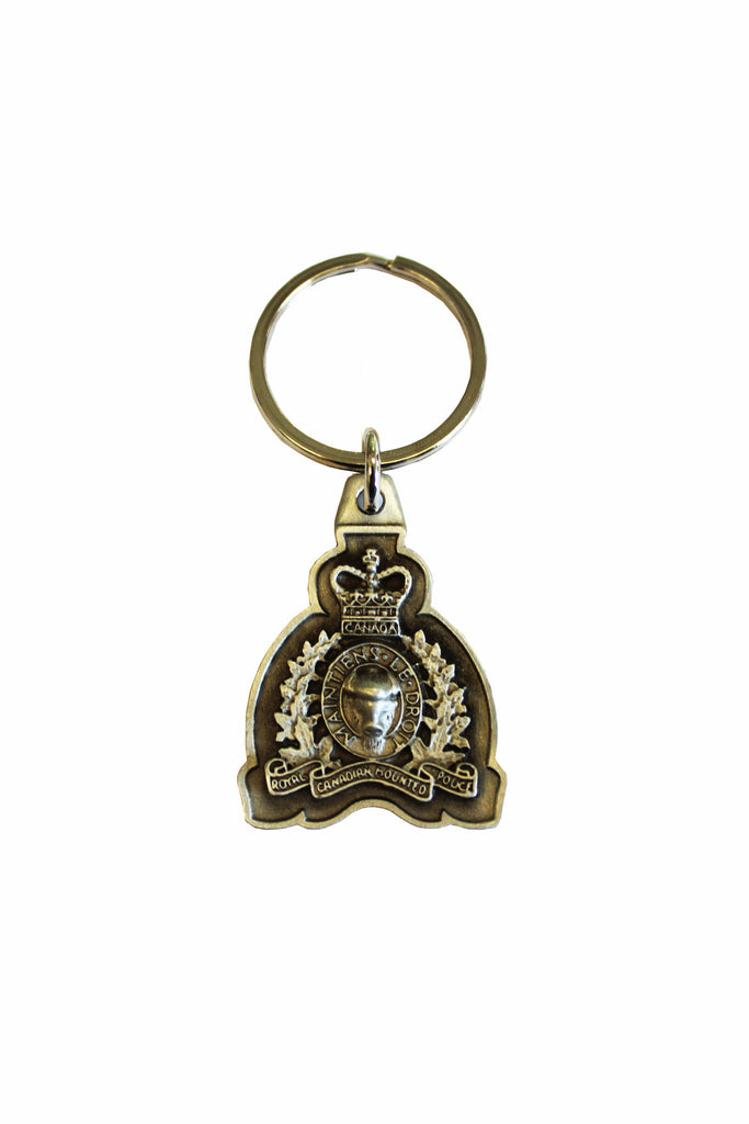 Pewter RCMP Crest Keychain
