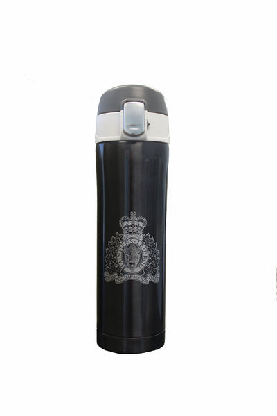 Travel Mug with RCMP Crest / Tasse de voyage avec l'écusson