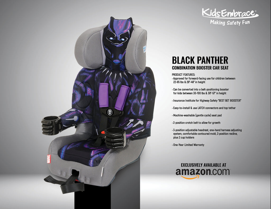 KidsEmbrace Launching First Ever Black Panther Car Seat