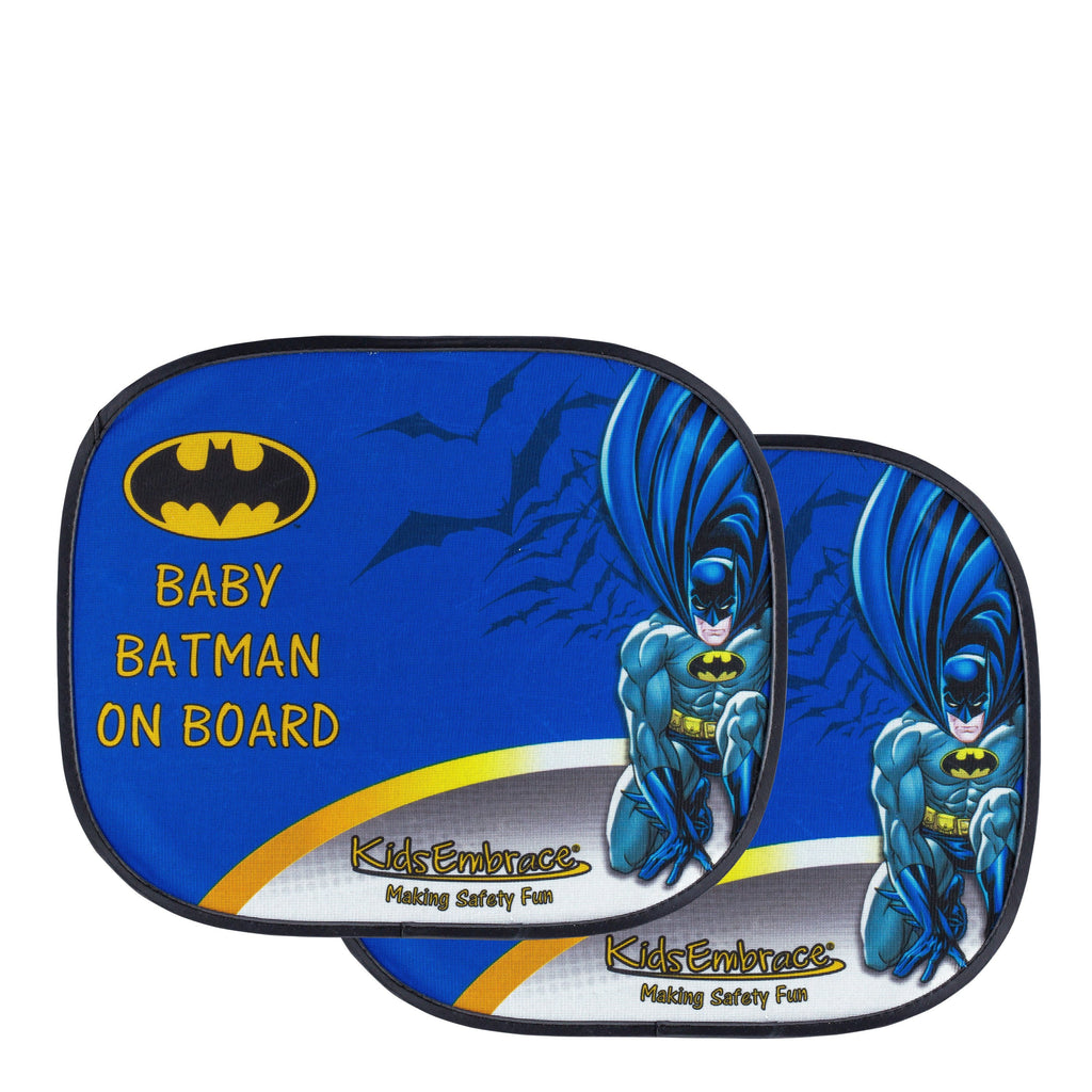KidsEmbrace DC Comics Baby Batman On Board Window Shade ( 2 pack)