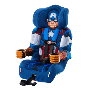 KidsEmbrace Marvel Avengers Captain America Combination Harness Booster Car Seat