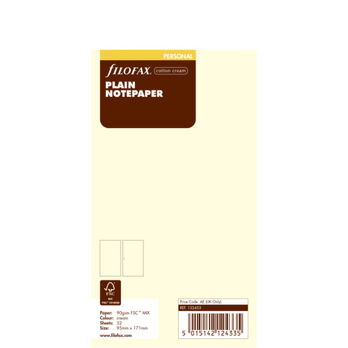 PERSONAL VULLING - COTTON CREAM PLAIN
