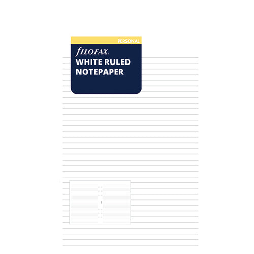 PERSONAL VULLING - WHITE RULED NOTEPAPER