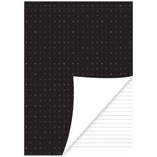 A5 VULLING - PERFORATED WHITE