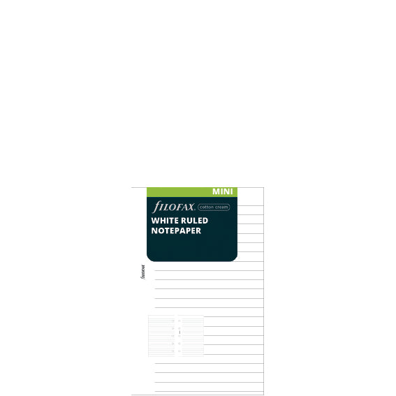 MINI VULLING - WHITE RULED NOTEPAPER