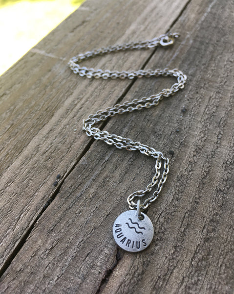 Zodiac Zen Necklace in Aquarius