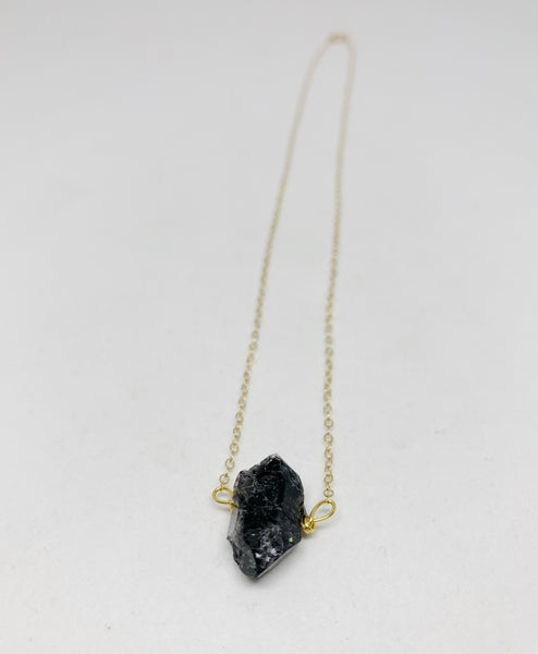 Diamonds in the Sky Necklace in Black