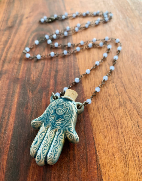 Hamsa on my Heart Necklace