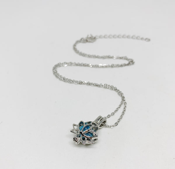 Lotus Love Locket Necklace in Apatite