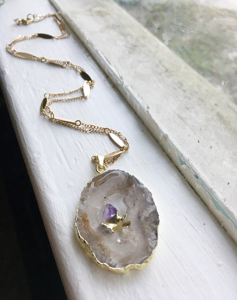 Simply Sacred Necklace in Amethyst