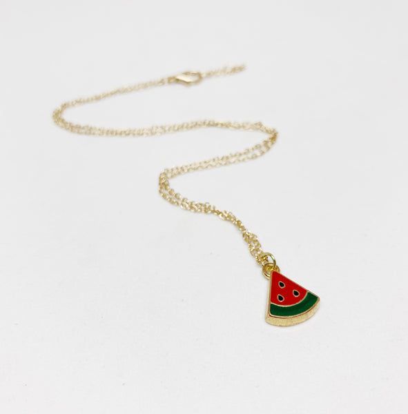 Feeling Fruity Necklace in Watermelon
