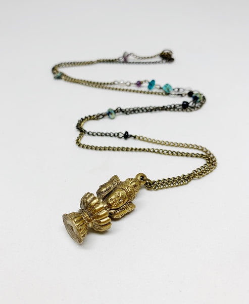 The Many Faced God Necklace
