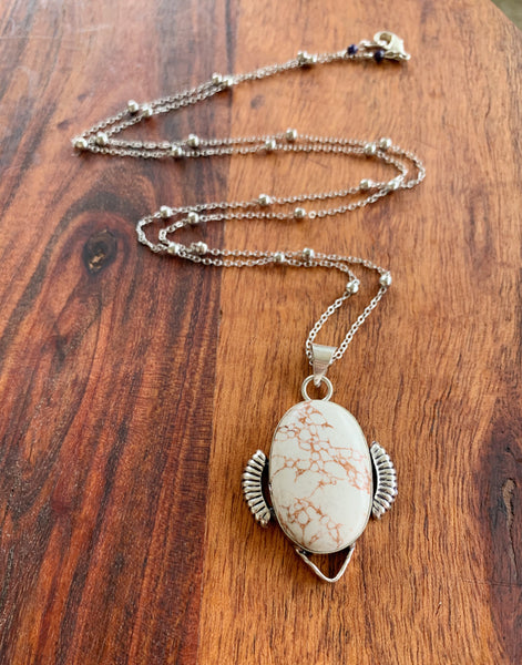 Howling for Howlite Necklace