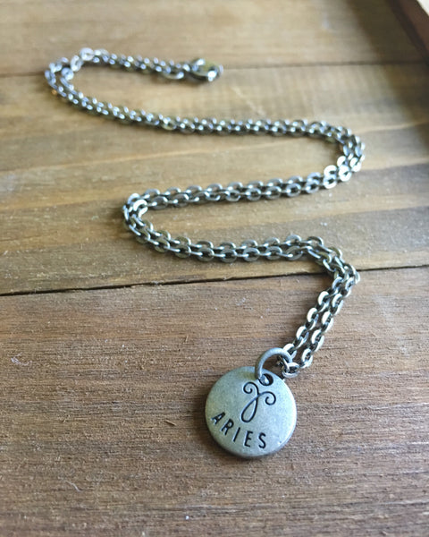 Zodiac Zen Necklace in Aries