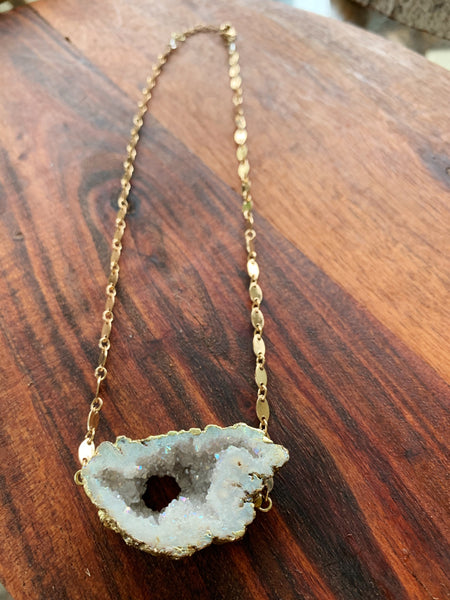 The Crystal Statement Necklace in Quartz