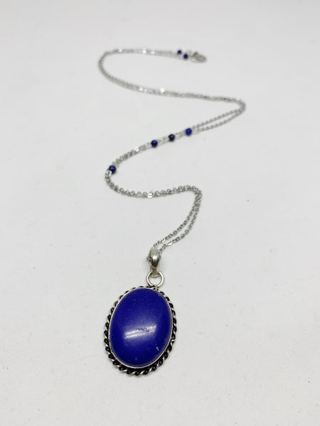 Witching Hour Necklace in Lapis Lazuli