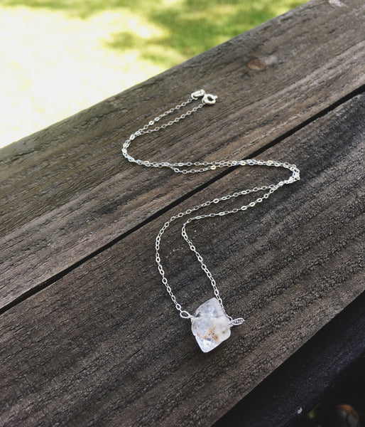 Diamonds in the Sky Necklace in Sterling Silver