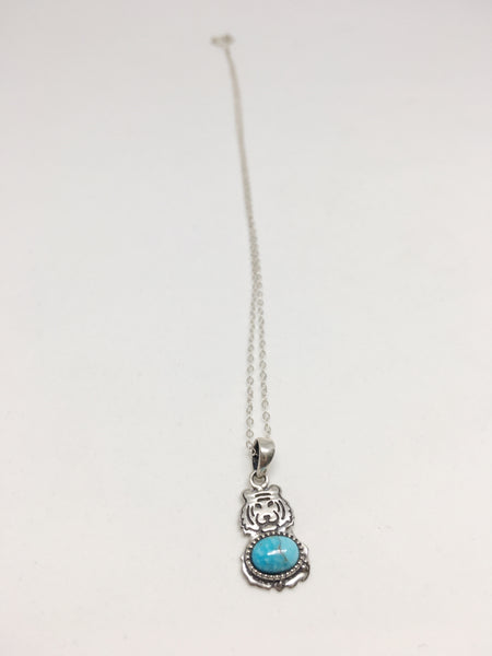 The Tiger's Turquoise Sterling Silver Necklace