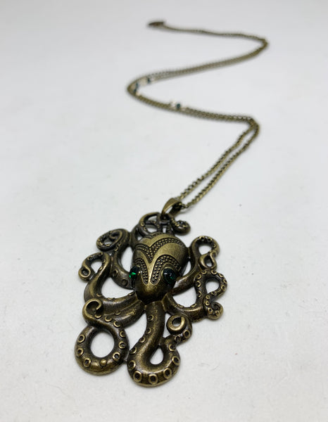 Monsters of the Deep Necklace in Octopus