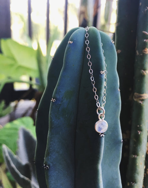 Lucky Stone Sterling Silver Necklace in Moonstone
