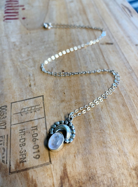 The Moon's Stone Sterling Silver Necklace