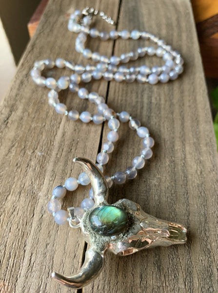 Steer Your Heart Necklace in Labradorite & Silver