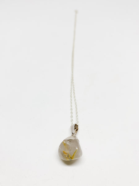 Rutilated Quartz Sterling Silver Necklace