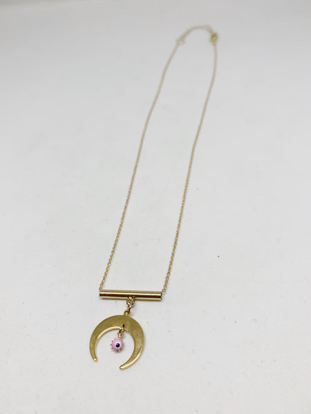 Horn of Sight Evil Eye Necklace